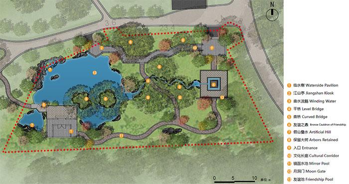Plan Of QP Chinese Garden