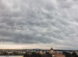 Mammatus clouds over Invercargill