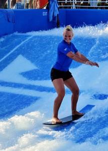 Aqua fitness instructor Virginia Pile
