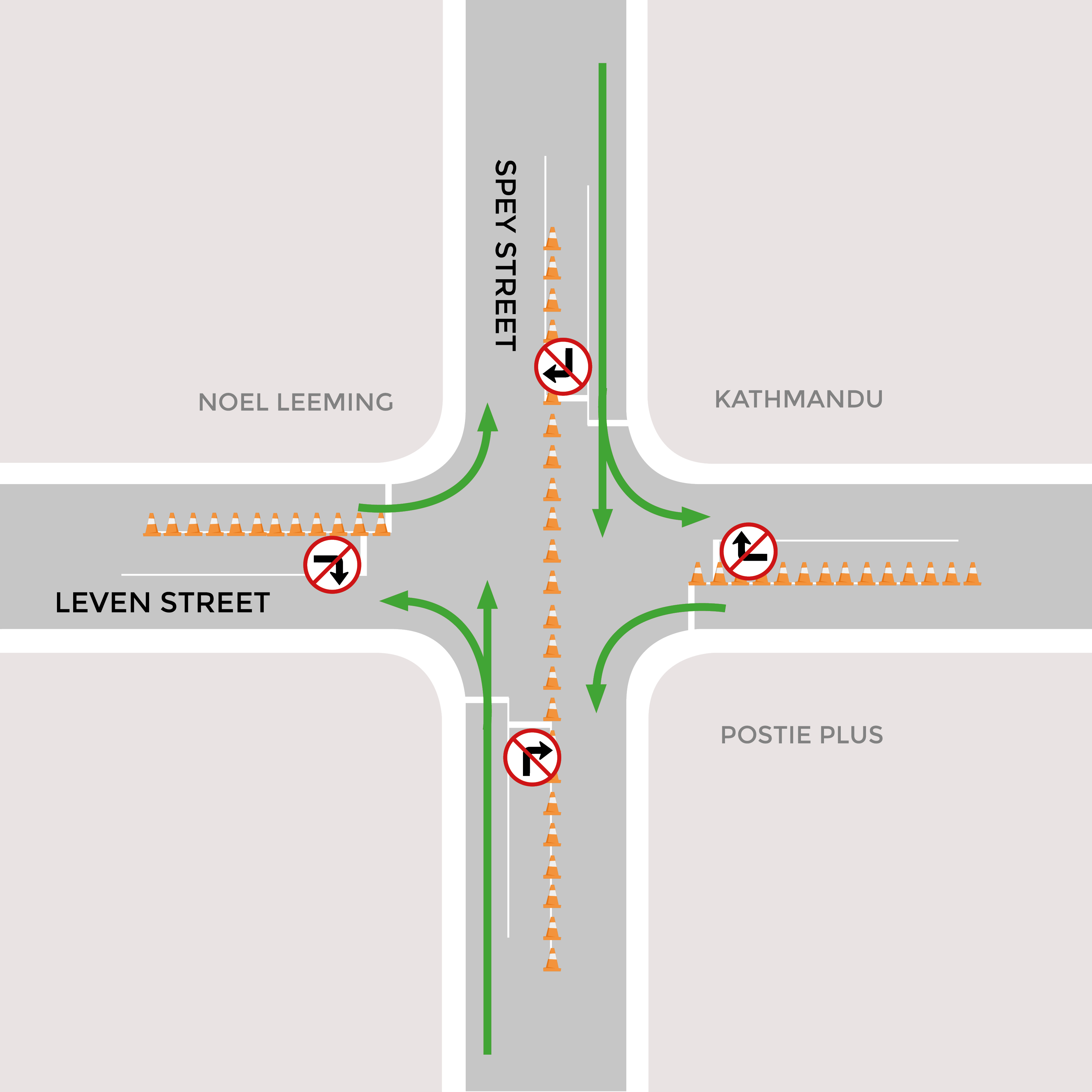 Leven/Spey traffic lights - Invercargill City Council