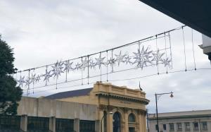 Invercargill's new Christmas lights in Tay Street.