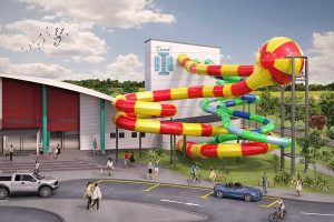 Artist's impression of the hydroslide