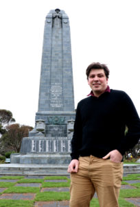 Matthew Nind at the Invercargill Cenotaph